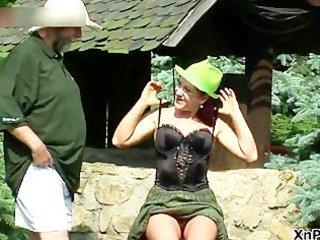 obscene mature redhead slut engulfing rod part3