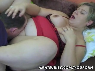 plump dilettante wife homemade engulf and fuck
