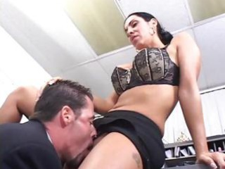 brunette hair mother i office sex