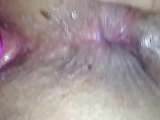 unaware wife - sex toy action - up close dark hole