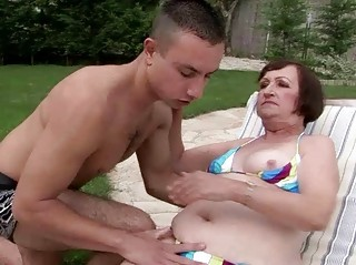 ugly granny having sex with juvenile boy