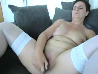 older amateur with a big sex-toy