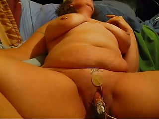big beautiful woman wife with massive clitoris