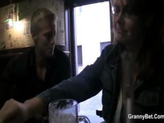 breasty older gets picked uup in a bar and taken