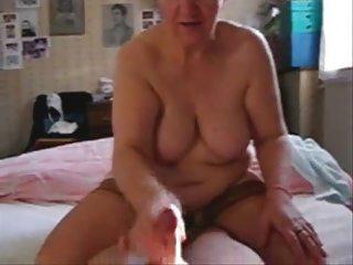 my slut older aunt jerking my cock