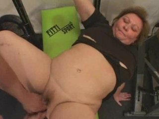 chubby older exercises her a-hole