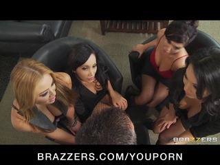 four hot breasty asian whores in hot fuckfest