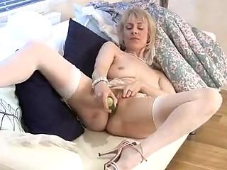 hazel is a blond granny who