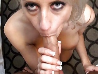busty blonde milf with astonishing booty does