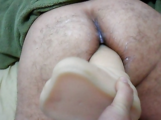 wife ding-dong on big sex-toy in butt your spouse