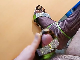 wearing and cum on my mother high heels sandals