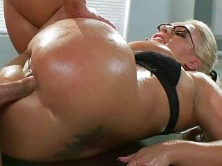 heavy boobs milf sadie swede oily ass pounded