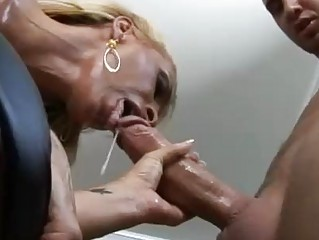 constricted ass blonde momma with large knockers