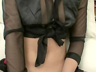 slender wife receives masturbated on from