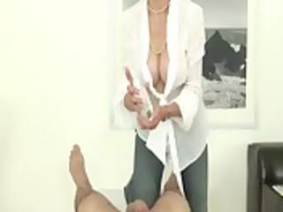 mature british fetish slut jerking hard cock