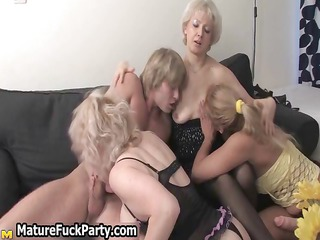 three experienced mature wives getting part9