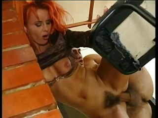 redhead d like to fuck screwed on bar.