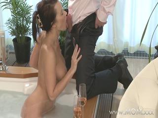 mamma couple make love in a hot tub
