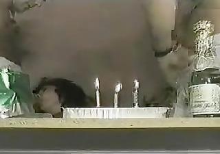 cum on her birthday cake