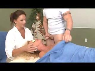 peculiar massage for blonde mature