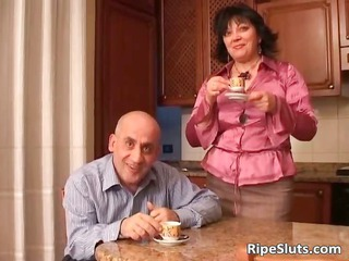 naughty dark brown milf blows males ramrod part3