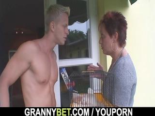 sexy lad screws neighbor granny