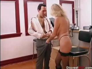 sexy mature secretary seducing younger boss