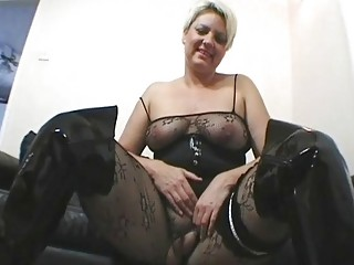 chic and breasty uk milf masturbates in darksome