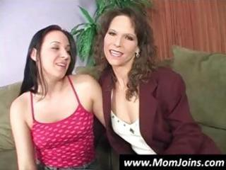 mother and daughter pose and strip down to show