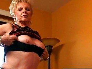 nasty blond granny showing wet pussy