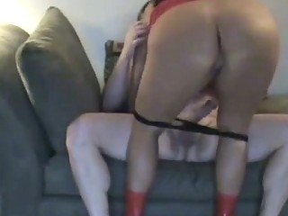 hawt chunky wife with big a-hole rides ramrod by