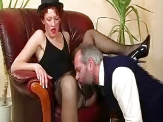 old bastard caught masturbating by hot milf