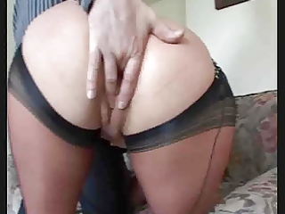 obscene mommy in stockings receives her bawdy