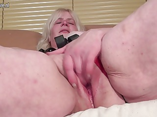perverted granny getting her pussy wet