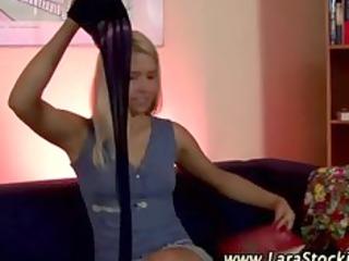 real european lesbo sweetheart in stockings