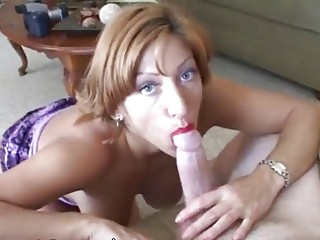 aged woman acquires a face load of cum
