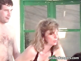 dilettante group sex with sexy golden-haired