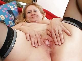 impure old grandma slit widening and masturbation