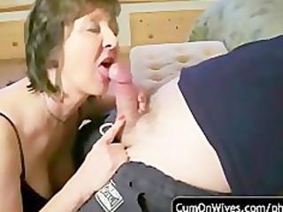 non-professional oral-stimulation and jizz flow